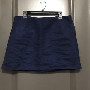 Old Navy blue Suede mini skirt
